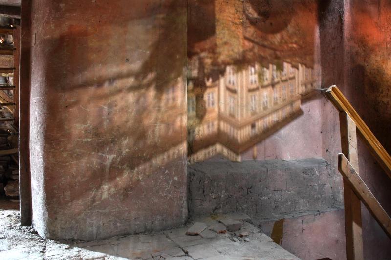 Prágai  királyi vár lyukkamerán (camera obscura) keresztül
